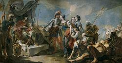 Giovanni Battista Tiepolo: Queen Zenobia before the Emperor Aurelian