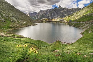 Great St Bernard Lake mountain lake of the Pennine Alps, located south-west of Great St Bernard Pass