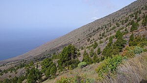 2011–12 El Hierro eruption - View from the slopes of El Julan on El Hierro. The June 2012 seismic activity is centred near this area.