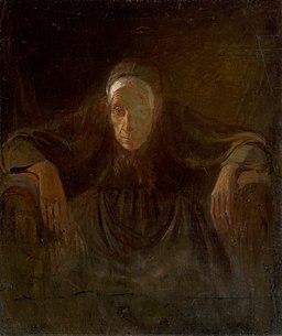 Ladislav Mednyánszky - Study of an Old Woman - O 4929 - Slovak National Gallery