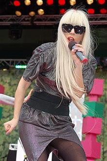 Gaga performing in Stockholm, Sweden.
