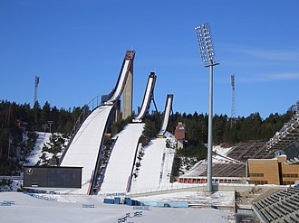 Lahti - Ski jumps at the sports centre