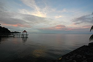 Nicaragua Canal -  Lake Nicaragua is the center segment of the Nicaragua Canal, 2005