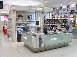 Lancôme - Counter at Life Pharmacy at Westfield Queensgate in Lower Hutt, Wellington region, New Zealand