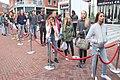 Lange rij elite model wedstrijd Spijkenisse.jpg