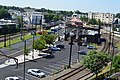 Lansdale station from new garage, July 2017.jpg