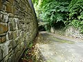 Larkstone Lane approaches the footbridge that leads to Brimstone. - geograph.org.uk - 957810.jpg