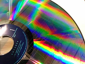 LaserDisc - Constant Angular Velocity LaserDisc showing the NTSC field setup and individual scanlines.  Each rotation has two such regions.