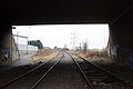 Leamside Line track under the A1231.jpg