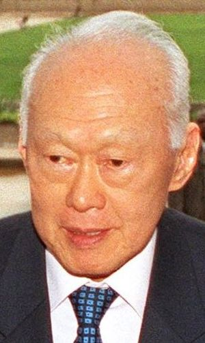 Parliament of Singapore - Singapore's first Prime Minister Lee Kuan Yew, photographed in 2002