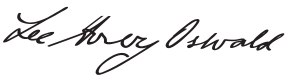 Lee Harvey Oswald 's signature