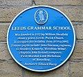 Leeds Grammar School plaque 25 July 2017.jpg