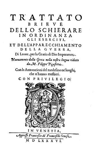 Tactica of Emperor Leo VI the Wise - Tactica (Italian edition, 1586)