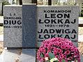 Leon Łokaj - Jadwiga Łokaj - Stanisława Diug - Cmentarz Wojskowy na Powązkach (105).JPG