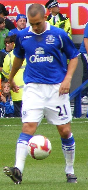 Leon Osman - Osman playing for Everton in 2008