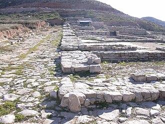 Celsa (Roman city) - Street on Insula II