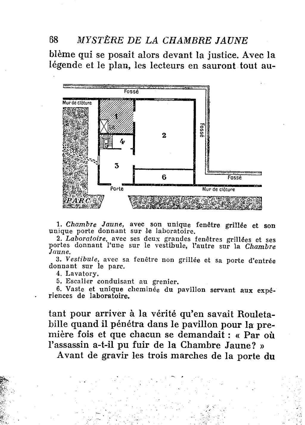 Page leroux le myst re de la chambre jaune 1932 partie wikisource - Le mistere de la chambre jaune ...