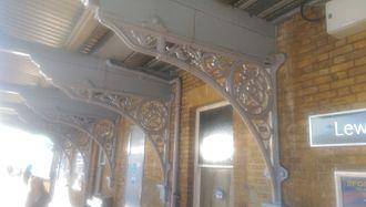 Lewisham station - Elaborate cast iron brackets