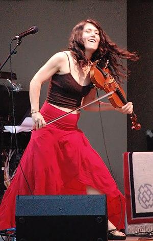 Lili Haydn - Haydn performing in MacArthur Park, LA  July 2009