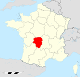 Limousin region locator map.svg