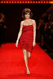 Lisa Rinna modeling at The Heart Truth Fashion Show in 2008
