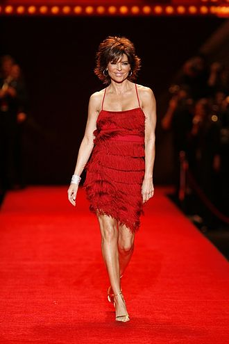 Lisa Rinna - Lisa Rinna modeling at The Heart Truth Fashion Show in 2008