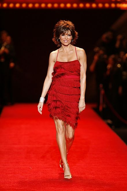 Lisa Rinna modeling at The Heart Truth Fashion Show in 2008 Lisa Rinna5.jpg