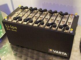 Accumulateur lithium de Varta, Museum Autovision, Altlußheim, Allemagne