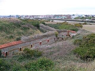 Littlehampton Redoubt Fort at entrance to the River Arun at Littlehampton