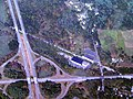Littleton station and I-495 - Route 2 interchange aerial view.JPG