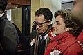 Llegada al John Mackintosh Hall de Joseph García en la mañana en que se conocerán los resultados de las elecciones generales de Gibraltar (23348483875).jpg