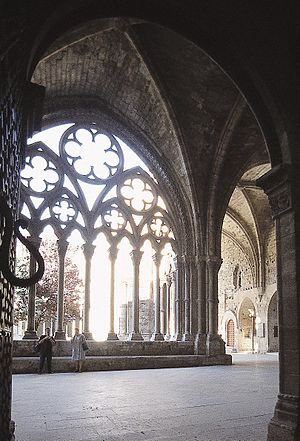 Old Cathedral of Lleida - The cloister.