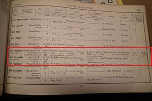Gilbert Sackville, 8th Earl De La Warr - Lloyds Yacht Register 1892-93. Entries show two schooners named Sunbeam.  One owned by Lord Brassey and other by his son-in-law, Viscount Cantelupe.