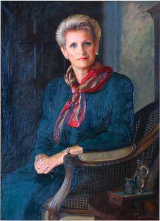 Lynn Morley Martin - Martin's official U.S. Department of Labor portrait, by artist Peter Egeli.