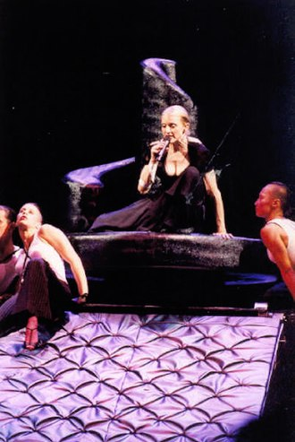 "What It Feels Like for a Girl - Madonna performing ""Lo Que Siente la Mujer"", the Spanish version of ""What It Feels Like for a Girl"",  during her Drowned World Tour in 2001."