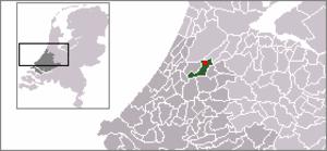Leimuiden - Image: Locatie Leimuiden