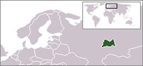 Map of the region with the Republic of Tatarstan highlighted