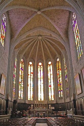 Lodève - Stained glass in Lodève cathedral