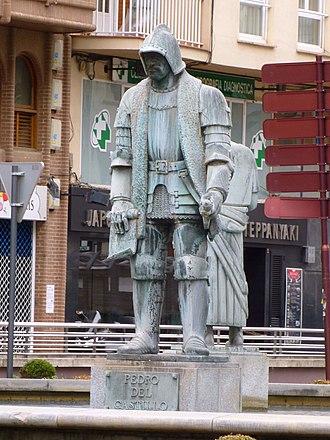Pedro del Castillo - Statue of Pedro del Castillo at Logroño, Spain