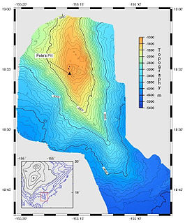 Map visually representing the submerged terrain