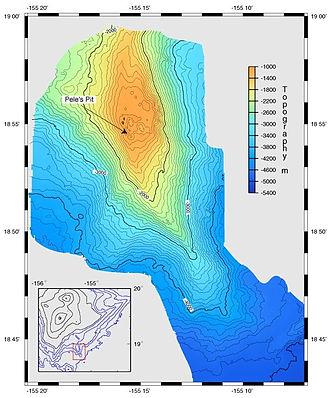 Lōʻihi Seamount - Image: Loihi Bathemetric
