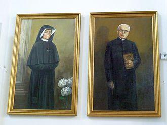 Michał Sopoćko - Paintings of Faustina and Sopoćko in Łomża