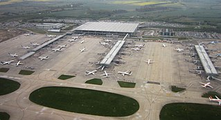 London Stansted Airport passenger airport at Stansted Mountfitchet, Essex