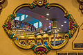 Looff Carousel - viewed through decorative window - Santa Cruz Beach Boardwalk (taken on 2015-04-04 18.31.01 by David Prasad).jpg