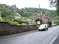 Looking from Wellington Road up to Holy Trinity, Coalbrookdale - geograph.org.uk - 1462346.jpg