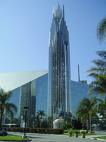 English: The Crystal Cathedral, a Protestant C...