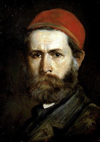 Károly Lotz - Selfportrait of Károly Lotz