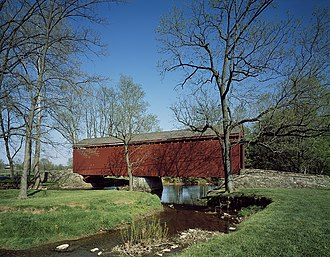 Loys Station Covered Bridge - As photographed by Carol M. Highsmith