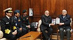 """Lt. General (Retd.) JFR Jacob presents his books """"An Odyssey in War and Peace"""" and """"Surrender at Dacca"""" to PM Modi.jpg"""
