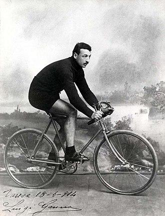 Luigi Ganna - Luigi Ganna, posing in a studio in Varese, Italy, 18 June 1914